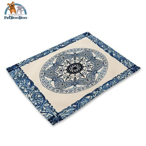 Blue Mandala Table Placemats 8 Placemats
