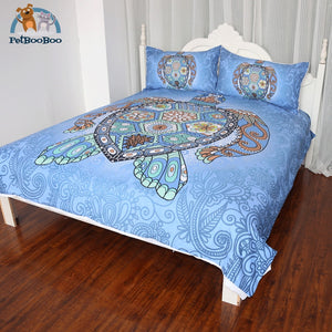 Blue Turtle Bedding Duvet Cover Set Duvet Cover