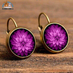 Boho Flower Printed Hoop Earrings For Women 13 200000170