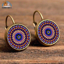 Boho Flower Printed Hoop Earrings For Women 5 200000170