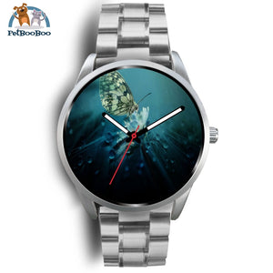 Butterfly Silver Watch Mens 40Mm / Metal Link
