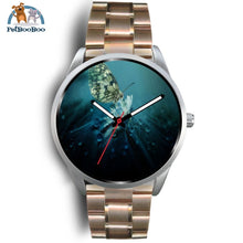 Butterfly Silver Watch Mens 40Mm / Rose Gold Metal Link