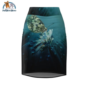 Butterfly Womens Pencil Skirt L All Over Prints