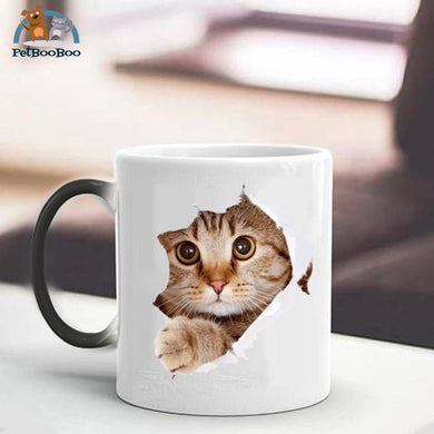 Cat Inside Magic Mug Color Changing Mug / 301-400Ml 100003290