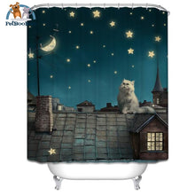 Cat On The Roof Shower Curtain Waterproof Polyester Type 7 / 120Cm Wide180Cm High Shower Curtain