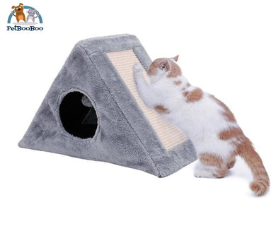Cat Scratching Post With Toy Foldable Cat