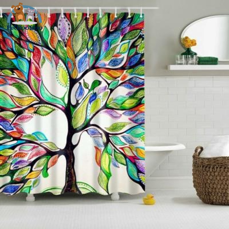 Colorful Tree Shower Curtain Tz160750 / L Shower Curtain