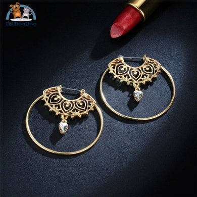Crystal Round Dangle Earrings For Women 200000168