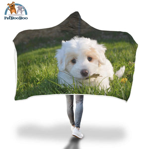Cute Puppy Hooded Blanket