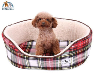 Dog Bed Fashion Plaid Pattern As Picture 1 / L Dogs