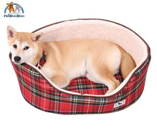 Dog Bed Fashion Plaid Pattern Dogs