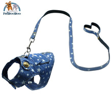 Dog Harness And Leash Jeans Vest Jacket Dogs
