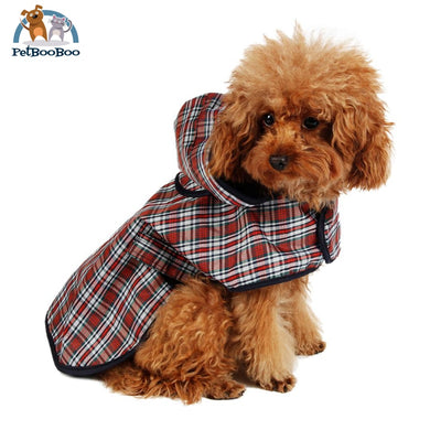 Dog Rain Coat Jacket Red/white / S Dogs