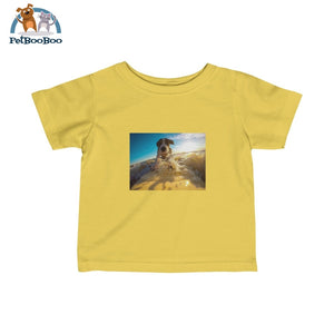 Dog Surfer Infant Fine Jersey Tee Butter / 6M Kids Clothes