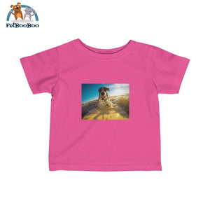Dog Surfer Infant Fine Jersey Tee Hot Pink / 12M Kids Clothes