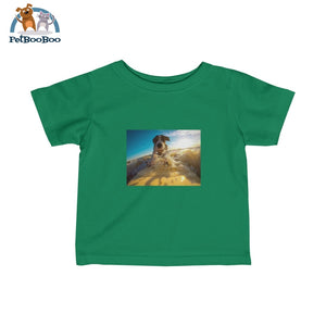 Dog Surfer Infant Fine Jersey Tee Kelly / 12M Kids Clothes