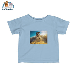 Dog Surfer Infant Fine Jersey Tee Light Blue / 12M Kids Clothes