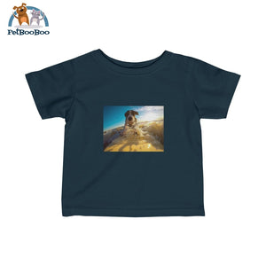 Dog Surfer Infant Fine Jersey Tee Navy / 12M Kids Clothes