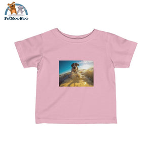 Dog Surfer Infant Fine Jersey Tee Pink / 12M Kids Clothes