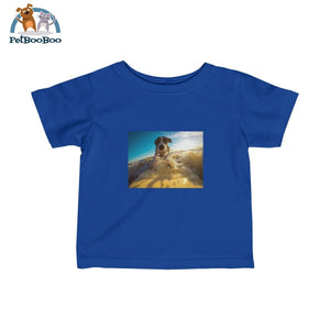 Dog Surfer Infant Fine Jersey Tee Royal / 12M Kids Clothes