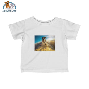 Dog Surfer Infant Fine Jersey Tee White / 12M Kids Clothes
