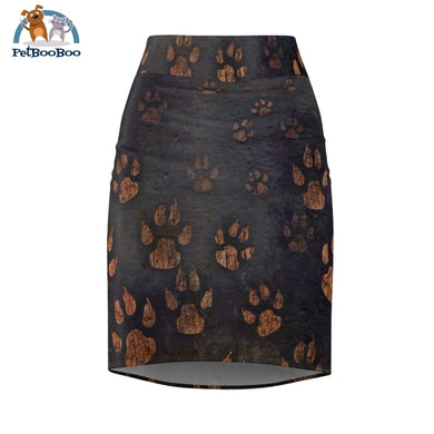 Dogs Paws Womens Pencil Skirt L All Over Prints