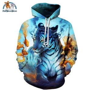 Dream By Jojoesart Tiger 3D Print Hoodie For Men And Women Tt027 / S 200000344