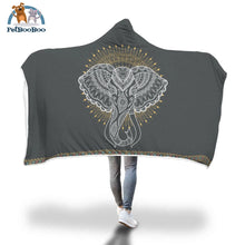 Elephant Hooded Blanket Adult 80X55