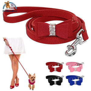 Fancy Suede Dog Leash With Rhinestone 200003720