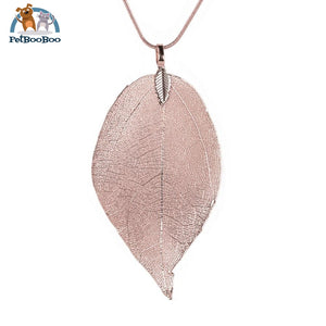 Fashion Leave Necklace Long Chain For Women C / China 200000162