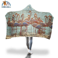Flamingos Hooded Blanket