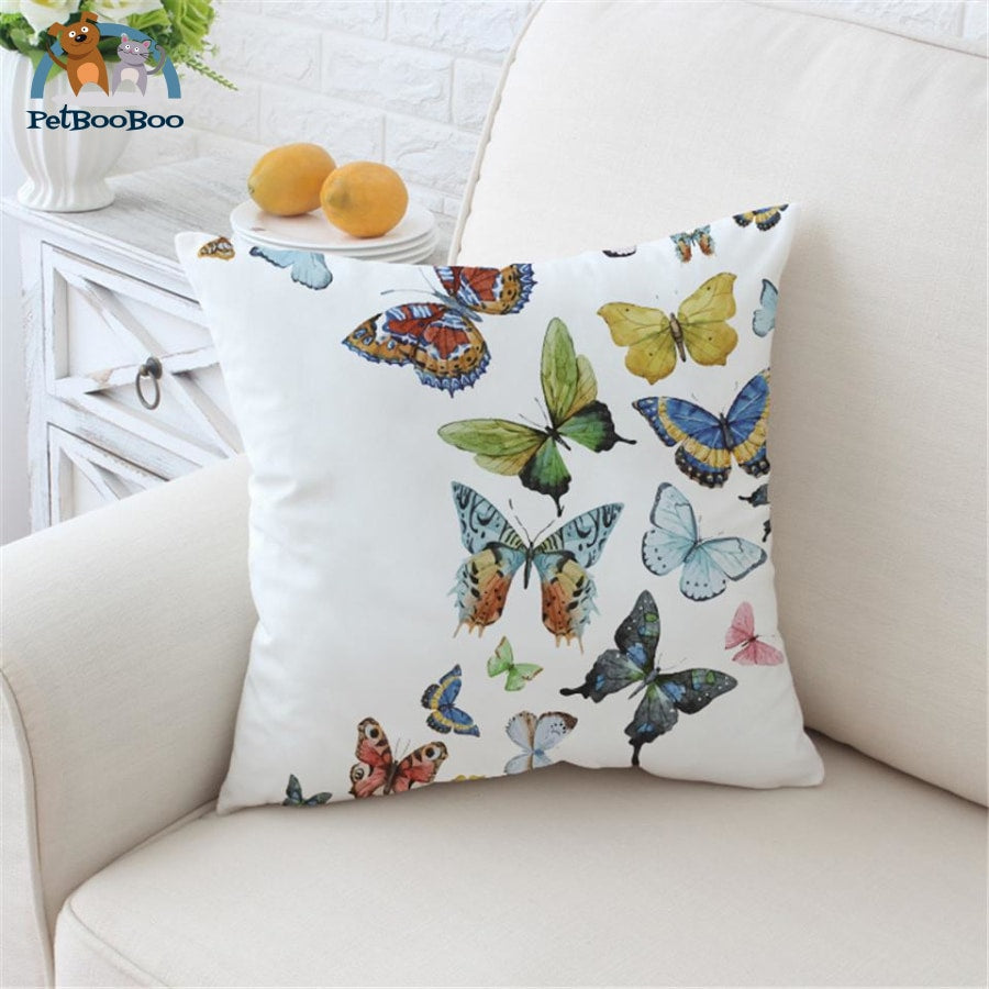 Flying Butterflies Cushion Cover 70Cmx70Cm Cushion