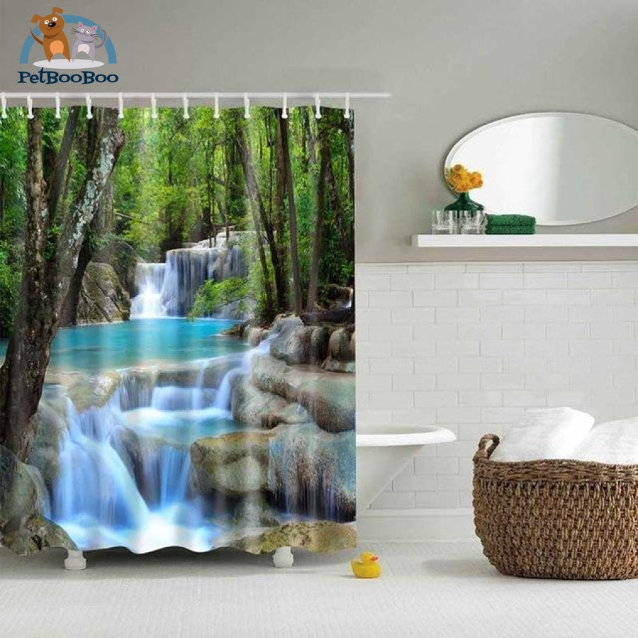 Forest Falls Shower Curtain 07 / 90X180Cm Shower Curtain