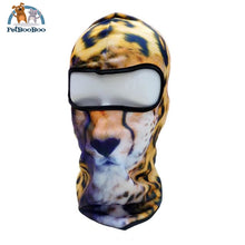 Full Face Mask For Bicycle Bike And Snowboard Cheetah Face