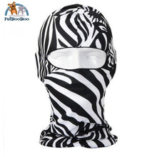Full Face Mask For Bicycle Bike And Snowboard Zebra Face