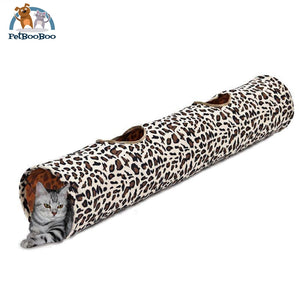 Fun Playing Tunnel For Cats Leopard / M Cat