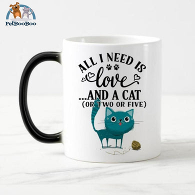 Funny Cat Magic Mug Ceramic Mug / 301-400Ml 100003290