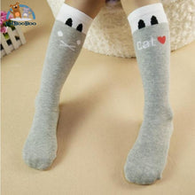 Funny Cats Long Socks For Girls Gray Children