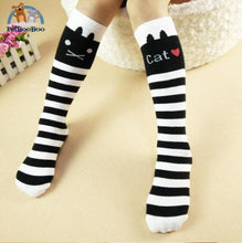 Funny Cats Long Socks For Girls White Children