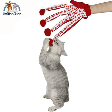 Funny Glove Toy Interactive For Cats Red / M Cat