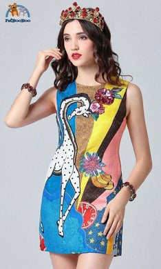 Giraffe Tank Dress For Women 200000347