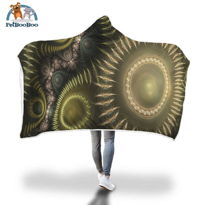 Golden Sun Hooded Blanket Adult 80X55
