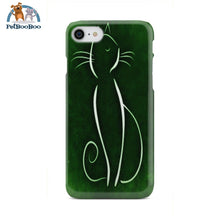 Green Cat Phone Case Iphone 8