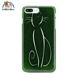 Green Cat Phone Case Iphone 8 Plus