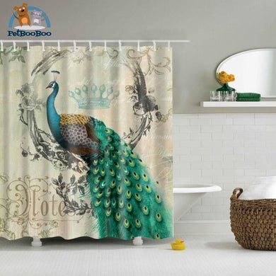 Green Peacock Shower Curtain Shower Curtain