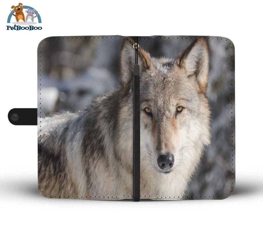 Grey Wolf Wallet Phone Case** Promo 2/1 Iphone X / Xs Case