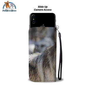 Grey Wolf Wallet Phone Case** Promo 2/1 Case