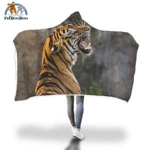 Grrr Tiger Hooded Blanket