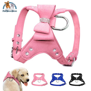 Harness Leather Dogs With Fancy Design Dogs