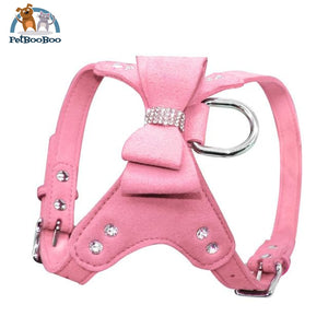 Harness Leather Dogs With Fancy Design Pink / L Dogs
